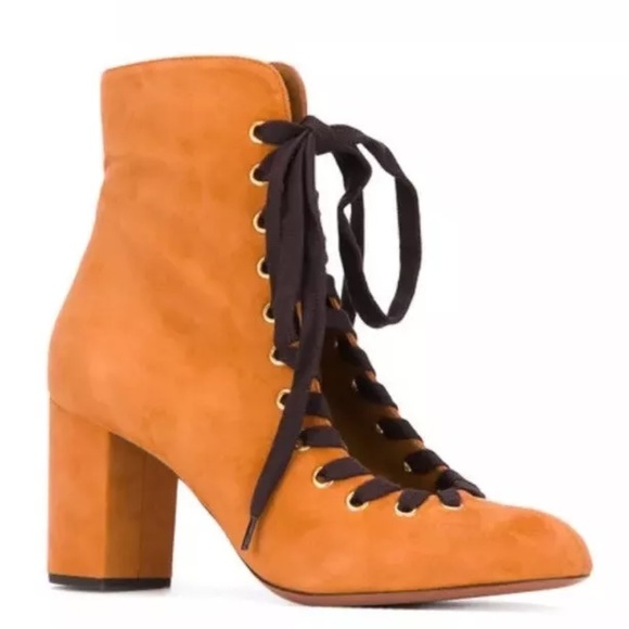 8afdcfc194c ❌SOLD❌ Chloe miles Harper ankle suede Carmel boots NWT